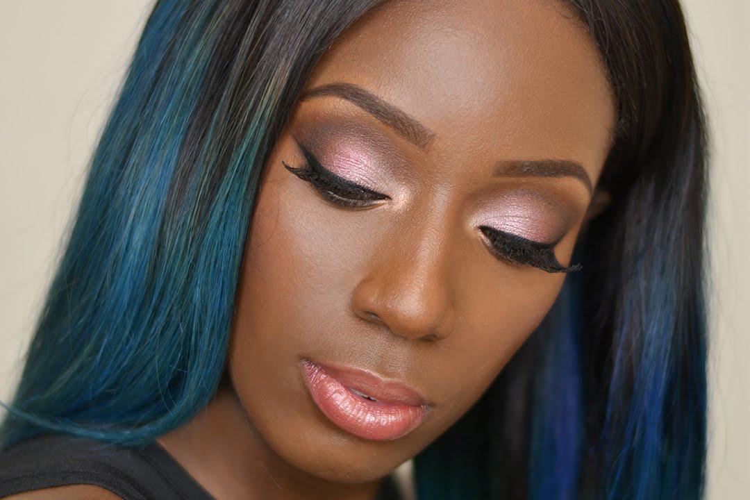 Christmas Glam Makeup look for Dark/Brown skin - YouTube