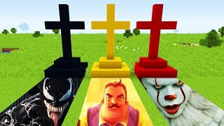 Minecraft : DO NOT CHOOSE THE WRONG GRAVE (BENDY,SCP 096, VENOM)(Ps3/Xbox360/PS4/XboxOne/PE/MCPE)