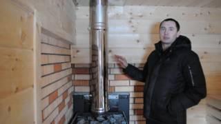 видео Кирпичный дымоход для газового котла – требования, инструкция по кладке и эксплуатации