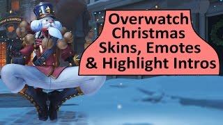 Overwatch Winter Wonderland Skins, Emotes and Highlight Intros