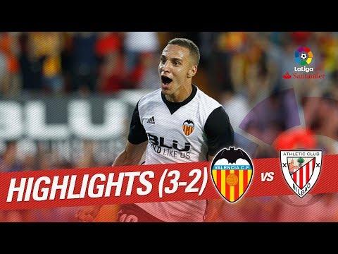Resumen de Valencia CF vs Athletic Club (3-2)