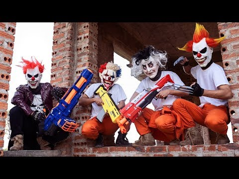Loka Nerf Guns : Squad Delta Nerf Guns Fight Dr.Crazy Crime Group Mask Ep 3
