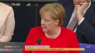 Befragung der Bundeskanzlerin: Angela Merkel stellt sich Fragen des Parlaments am 06.06.2018