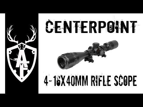 4-16x40 mm CenterPoint Rifle Scope Real talk review