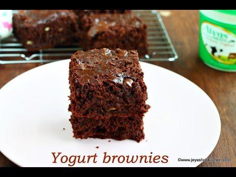 Eggless yogurt Chocolate Brownies