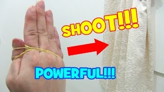 BEST POWERFUL Rubber Band Shooting Tricks!