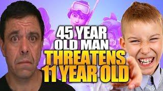 "45 Year Old Fortnite Gamer Threatens 11 Year Old Child Over ""Fortnite Beatdown"""
