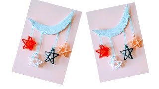 Christmas star || how to make a star using woolen || Wall hanging || Star baby mobile
