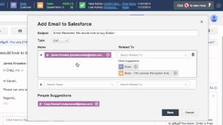 How to add emails to Salesforce from Gmail