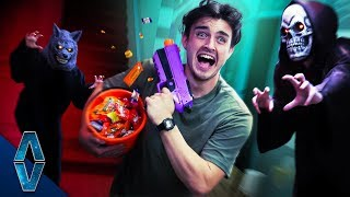 NERF Haunted House Escape Challenge!
