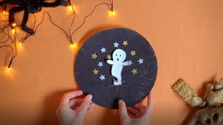 Click here to play the How to create a paper plate ghost video