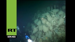 Buzos hallan una galera antigua en el fondo del mar Negro