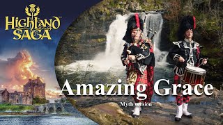 """Amazing Grace a song of the """"Highland Saga"""" performed by the """"PipersOfTheWorld"""""""