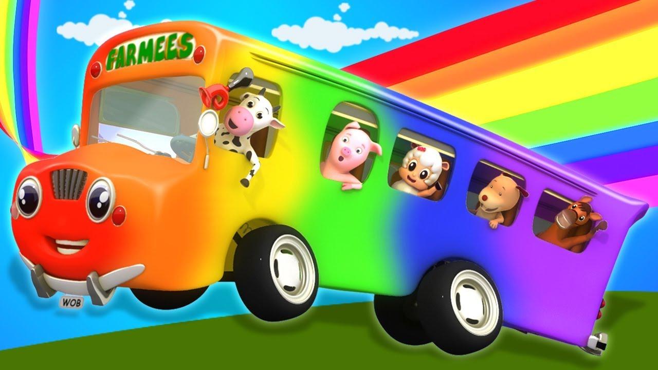 公共汽車上的輪子   孩子們的卡通歌   童謠為孩子   孩子們的卡通視頻   Wheels On The Bus   Chinese Rhymes And Kids Songs - YouTube