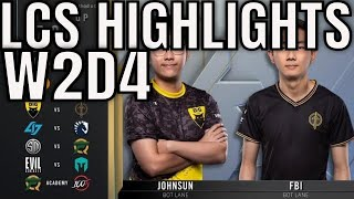 LCS Highlights ALL GAMES Week 4 Day 2 Spring 2020 League of Legends Championship Series