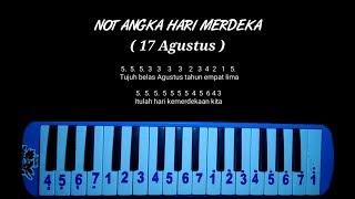Not Pianika Hari Merdeka   17 Agustus