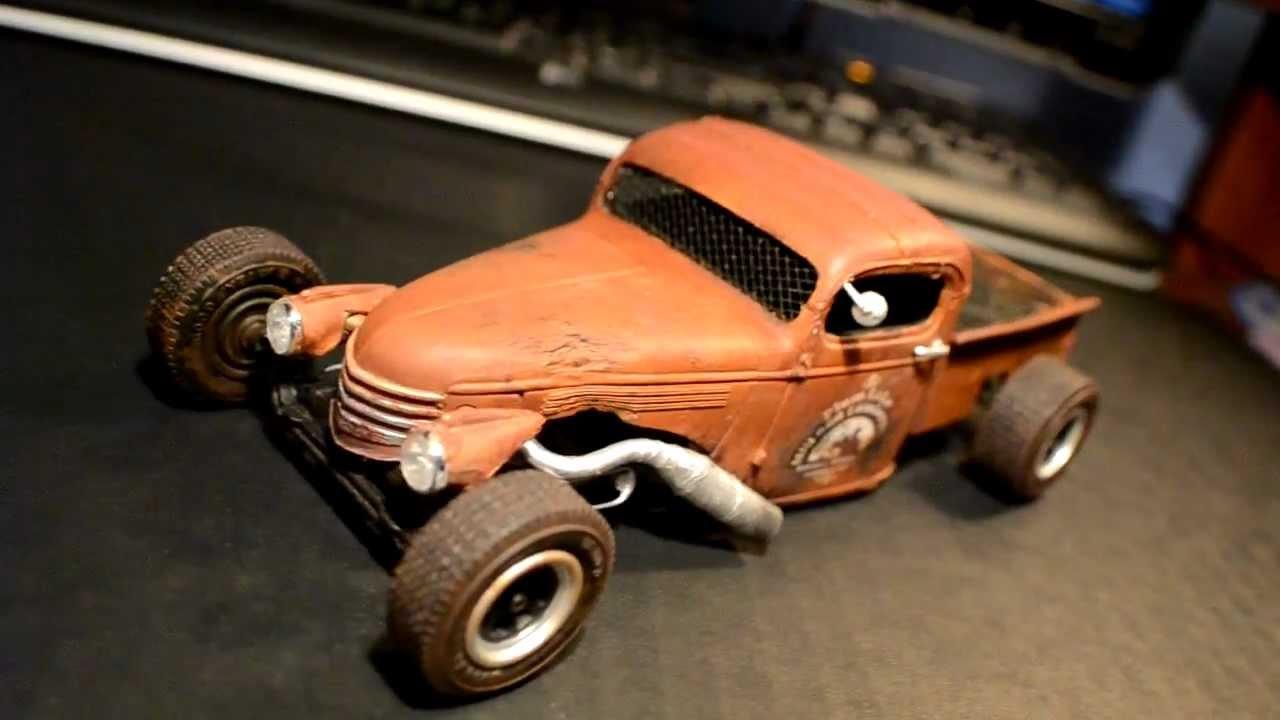 Pickup 41 chevy pickup 41 Chevy rat rod model - YouTube