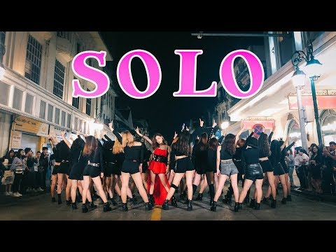 [KPOP IN PUBLIC CHALLENGE] JENNIE  - 'SOLO' Dance Cover @ FGDance From Vietnam ( 40 Backup Dancers )