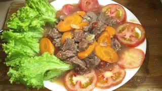 Char Lok Lak Beef - Asian Food Recipes, Cambodian Food Cooking, by KarKar24