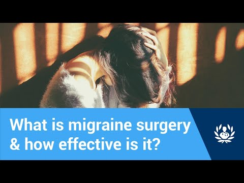 What is migraine surgery and how effective is it?