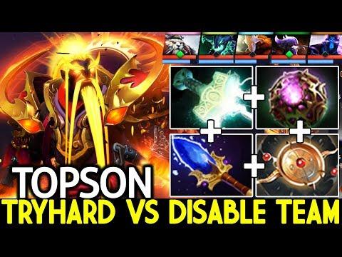 TOPSON [Ember Spirit] When Pro Tryhard VS Disable Team 7.22 Dota 2