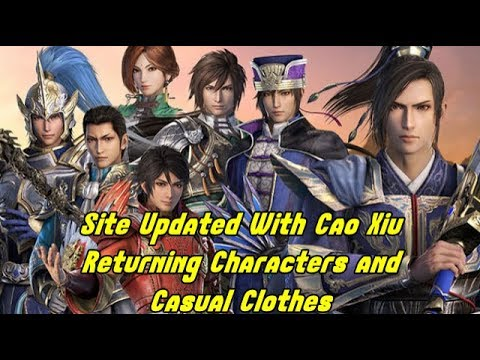 Dynasty Warriors 9 News!! Site Updated With Cao Xiu, Returning Characters and Casual Outfits