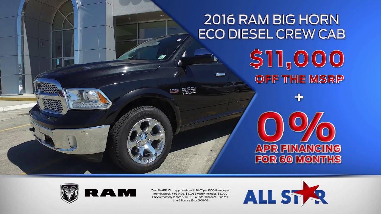 All Star Dodge Chrysler Jeep Ram March TV mercial Ram Truck