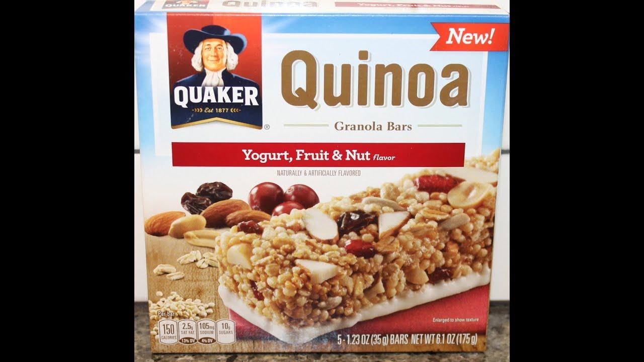 Quaker Quinoa Granola Bars: Yogurt, Fruit & Nut Review - YouTube