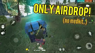 ONLY AIRDROP CHALLENGE! (SO CLOSE 0.0) - Garena Free Fire