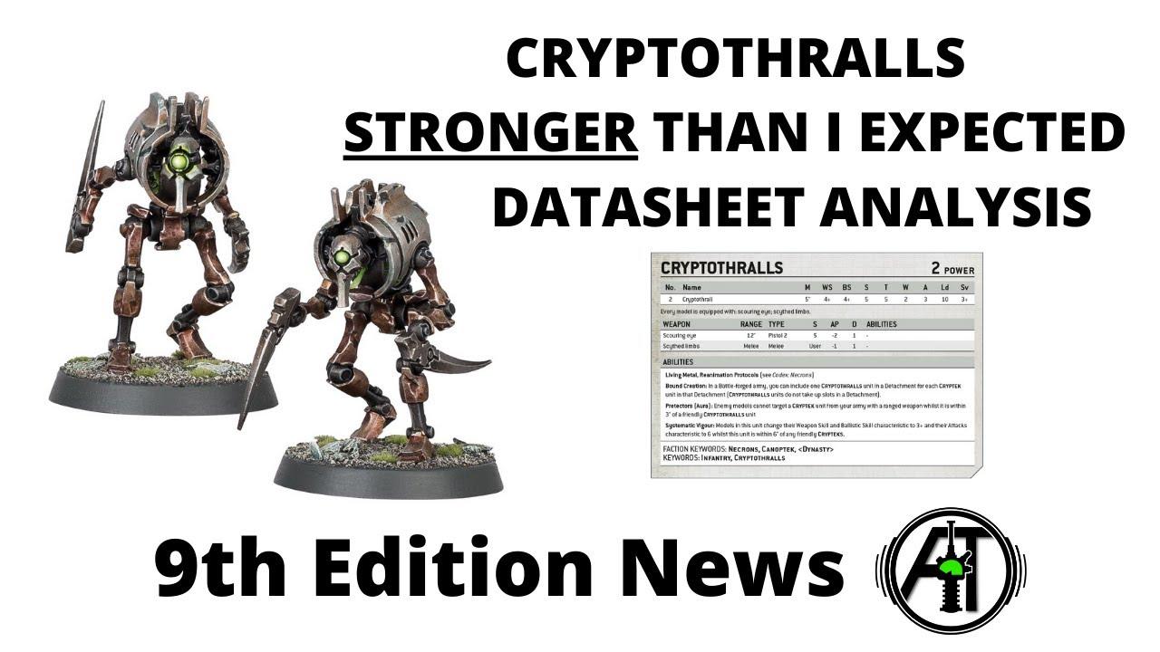 Necrons 2 Cryptothralls Indomitus Warhammer 40k