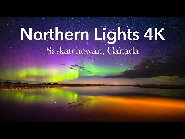 Northern Lights in 4K! 2020 Aurora Borealis Time Lapse from Saskatchewan, Canada