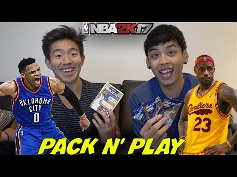 IN REAL LIFE PACK N' PLAY! KING JAMES, DURANT, KOBE, & MORE! NBA 2K17!