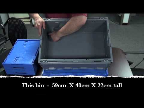 Collapsible Straight Sided Commercial Storage Bins/Containers
