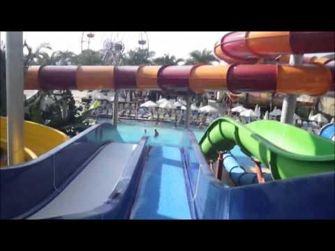 Water Slide Compilation at Long Beach Resort in Alanya.