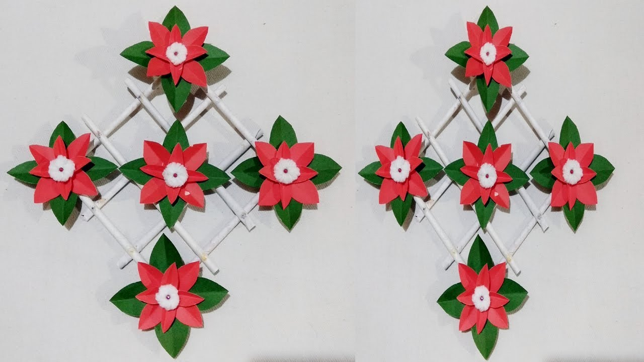 Diy Paper Flower Wall Hanging Wall Decoration Diy Art