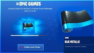 How To Get BLUE METALLIC Camo and CHALLENGE GUIDE in Fortnite Ice Storm Challenges!