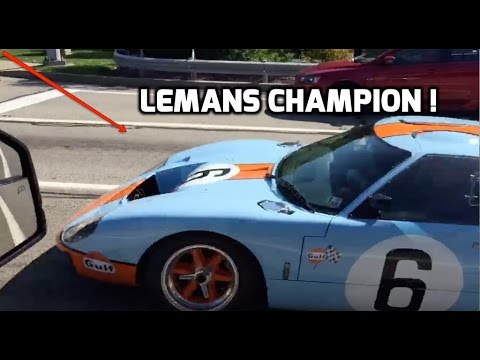 I saw a 1967-69 LeMans Champion FORD GT40 Driving on the Road !!