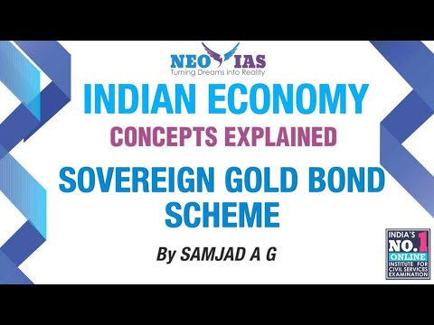 Sovereign Gold Bond Scheme | Prelims Current Affairs | Indian Economy | NEO IAS