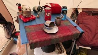 Winter Camping: Cabela's Big Horn III 4 Season Tent Set Up and Interior Tour