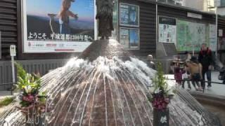 2010.Apr.29 近鉄奈良駅前(奈良市)行基像噴水 a fountain with a Gyok...