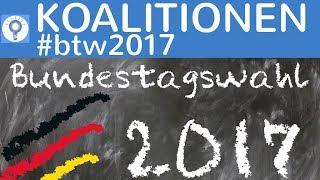 Mögliche Koalitionen - Update Bundestagswahl 2017 #btw2017 - Politik einfach erklärt