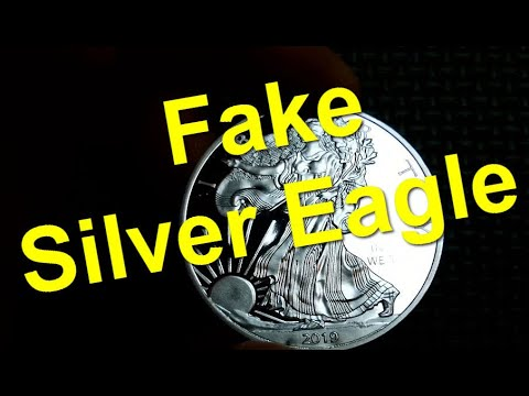 Fake Counterfeit American Silver Eagle Coin : Eye-On-Stuff