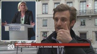 L'ex-Insoumis Andrea Kotarac rejoint le RN grâce aux Gilets Jaunes (F2, 17/05/19, 20h)