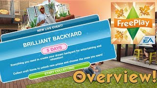 The Sims FreePlay | Brilliant Backyard Live Event | Overview + House Template TOUR!