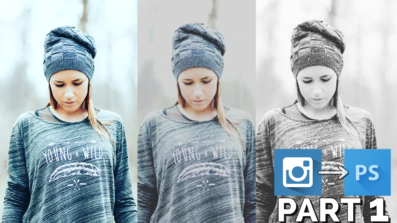 Instagram effects in photoshop clarendon gingham moon youtube ccuart Gallery