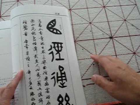 Selling book -  Calligraphy Seal style with VCD