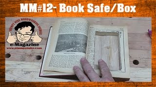 how to hide your workshop snacks  make a hidden book safebox scroll saw project  mustache mike