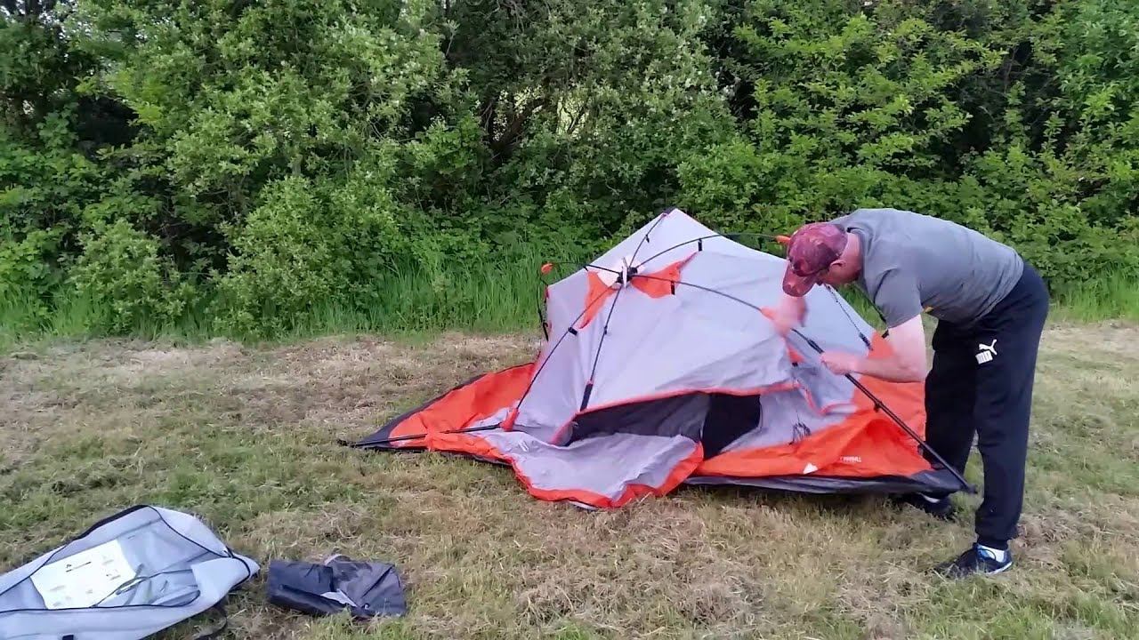 Ozark Trail 4 Person Dome Tent set up & Ozark Trail 4 Person Dome Tent set up - YouTube