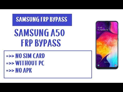 Samsung A50 FRP Bypass (Unlock Google Account) Android 9 (No Sim Card)