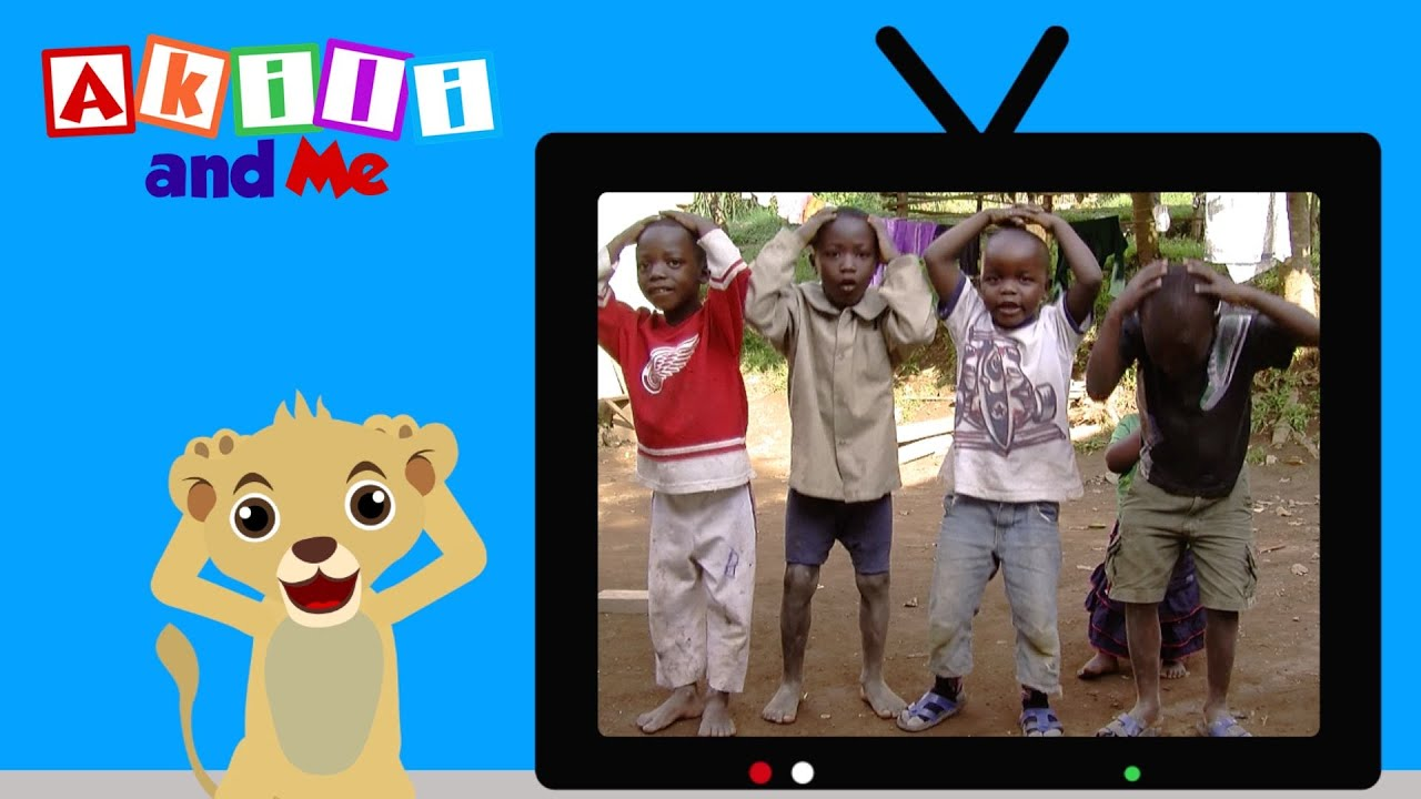 Touch Your Head & Toes   Numbers & Shapes with Akili and Me   Educational Cartoons for Preschoolers